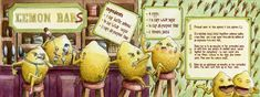 Lemon Bars by Diego Penuela -   Great site with beautiful, funny and wacky ilustrated recipes