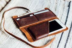 de hustler wrap portemonnee met telefoon hoes / / door HUSTLEANDHIDE