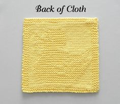 RUBBER DUCK Knit Pattern - Use for Baby Washcloth, Dishcloth, Baby Blanket Square  **THIS IS AN INSTANTLY DOWNLOADABLE PATTERN -- in English only -- PDF FORMAT**   -- >>>>> PERSONAL USE ONLY <<<<< -- (see details at bottom of listing)  The cloth pictured is NOT included but is what your final product will look like. (Please contact me if you wish to purchase a finished cloth.) *** THIS PATTERN IS MY OWN UNIQUE DESIGN, SO YOU WONT FIND IT ANYWHERE BUT AUNT SUSANS ...
