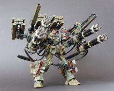 Project Dreadnought Full Assault Load-Out MG 1/100 HeavyArms EW: Modeled by TR13. Lol Ok James and Ryan how many shots would this have in one turn of warhammer lol