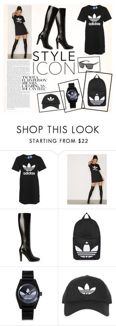 """Adidas set"" by suljic-melika ❤ liked on Polyvore featuring adidas Originals, Yves Saint Laurent, Topshop, adidas and polyvoreset"