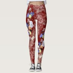 Iris iris butterfly race/lace red leggings - lace gifts style diy unique special ideas