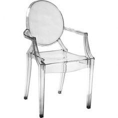 Cadeira Ghost Incolor Com Braço