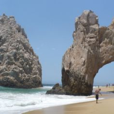 Land's End Arch, Cabo San Lucas... Divorce Beach and Lover's Beach meet under the Arch, where two seas mingle and clash.