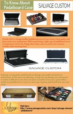 Double click to change textBuy pedalboard cases of your choice when quality and price meets your requirement. Before purchasing a right type of pedalboard case it is important to know few things about these cases to avoid some common mistake while choosing them.