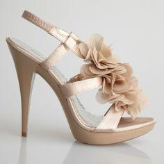 #Allure #Flutter #Bridal Nude Shoes www.imagebridal.com