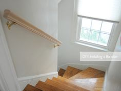 DIY installing a hand banister for stairs