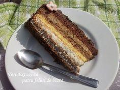 Tort Extasy cu patru feluri de bezea Torte Recipe, Food Cakes, Sweet Cakes, Something Sweet, Nutella, Cake Recipes, French Toast, Food And Drink, Ice Cream