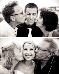 Fotos com os pais dos noivos