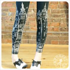 Victorian Leggings  Pattern Black Leggings  Legging by Carouselink, $28.00