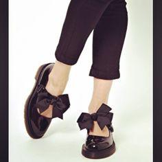 Dr Martens Mariel black patent bow flats @amtwigg