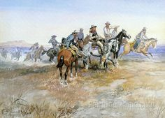 Start of Roundup by Charles Marion Russell