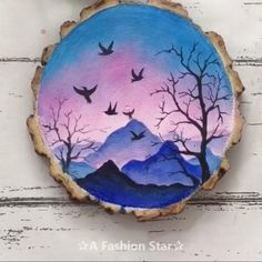 Wood Painting Art, Stone Painting, Sketch Painting, House Painting, Art Diy, Beginner Painting, Beginner Art, Rock Painting Designs, Home Decor Paintings
