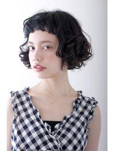 プレディカ pledicaフレンチ風で極短前髪が可愛い☆ボブパーマ