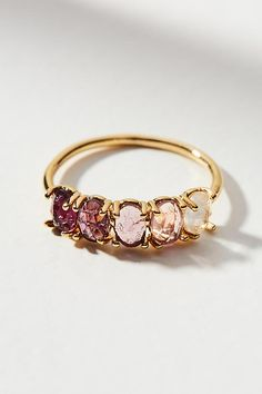 Ombre Birthstone Ring - February | Anthropologie