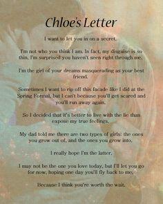 Chloe Sullivan's Letter to Clark Kent on Smallville Clark Kent, Smallville Quotes, Lois Smallville, Favorite Tv Shows, Favorite Quotes, Superman, Tom Welling Smallville, Chloe Sullivan, Tv Quotes