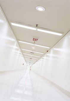 At the Facility, the inner part where the kids live is surrounded by observation passages that are closed off from the rest of the outer Facility. The exit signs may or may not lead to actual exits from the building.