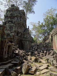 Cambodia, Ta Prohm, Family of Five por Jo O'Leary