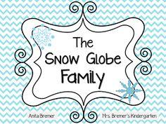 Mrs. Bremer's Kindergarten: The Snow Globe Family {FREEBIE PACK}