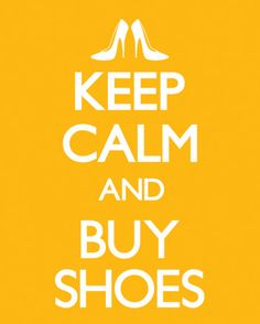 Keep Calm and Buy Shoes Mini-affiche