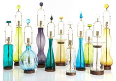 Blenko Glass lamps from Rejuvenation.