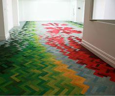 piso de madeira pintado !  www.studiocasamix.blogspot.com.br