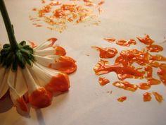 Beautiful flower printing craft