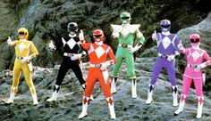 MMPR promo shot. New to me. #Power Rangers #vintage