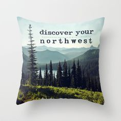 #homedecor #pacificnorthwest #pnw #mountains #Washington #typography #landscape #pillow