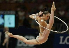 In my dreams I can do this!! One of the best ever rhythmic gymnasts- Anna Bessonova (UKR).