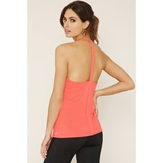 Forever 21 Women's  Active Perforated Tank ($9.90) ❤ liked on Polyvore featuring tops, strappy cami, cami tank tops, forever 21 tank tops, camisole tops and cami top