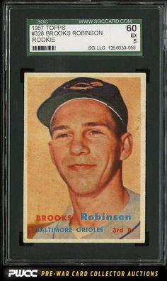 1957 Topps Brooks Robinson ROOKIE RC #328 SGC 5/60 EX (PWCC)