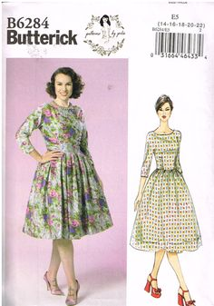 Butterick B6284, Sewing Pattern, Patterns By Gertie, Misses' Retro-Style Dresses, Size 14, 16, 18, 20, 22, Plus Size by OhSewWorthIt on Etsy