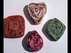 How To Make Fancy Paper Napkin Coiled Pendants Lesson 3 - YouTube
