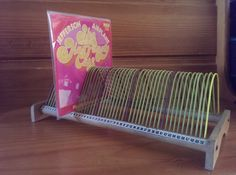 Vintage Green and Purple Vinyl Storage Rack for 7, 10 and 12 Inch Records 1960s by EspressoRecords on Etsy