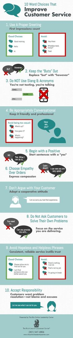 Words CAN hurt you and your #bottomline. 10 Words Choices that Improve #CustomerService.