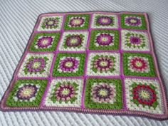 Hand-Crochet-Granny-Square-Baby-Blanket-Throw
