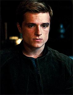 Josh Hutcherson gif - Peeta Mellark - Hunger Games. Would you like some bread, Katniss?