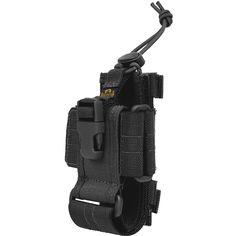 Adjustable large phone / radio holster with buckle enclosure