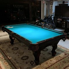 Finished Installing This Foot One Piece Slate Delta Pool Table In - Space needed for 7 foot pool table