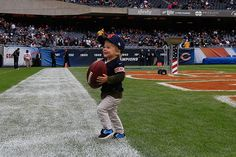 Carter Seabrook has some fun on the field.