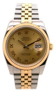 Rolex DateJust 116233 2-Tone 18k YG /SS Champagne Roman Dial 36mm. Get the lowest price on Rolex DateJust 116233 2-Tone 18k YG /SS Champagne Roman Dial 36mm and other fabulous designer clothing and accessories! Shop Tradesy now