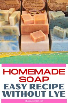 Handmade Soap Recipes, Soap Making Recipes, Handmade Soaps, Diy Soaps, Homemade Soap Bars, Diy Savon, Homemade Beauty Products, Recipes For Beginners, Home Made Soap