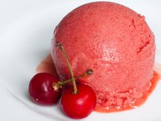 Sour Cherry and Lavender Sorbet Recipe