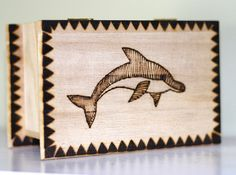 Woodburned Doplhin Box by AnniesArtBook on Etsy, $9.50 ON SALE, FREE SHIPPING