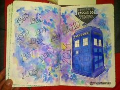 wreck this journal - Doctor Who - Tardis
