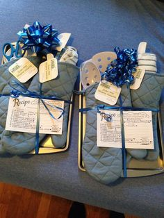 Two Of The Prizes For My Bridal Shower Games Cookie Sheet Oven in sizing 2448 X 3264 Wedding Shower Door Prizes - As any realtor will say location is Baby Shower Game Prizes, Bridal Shower Prizes, Gifts For Bridal Shower Games, Baby Shower Gifts For Guests, Wedding Shower Gifts, Babyshower Prize Ideas, Bridal Shower Presents, Cheap Baby Shower Favors, Shower Hostess Gifts