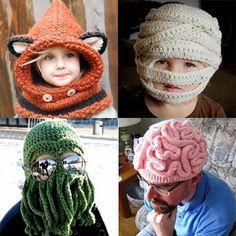 Crochet For Children: 25 Cool Winter Hats Amanda Reisinger Crochet Kids Hats, Cute Crochet, Crochet Yarn, Crochet Clothes, Knitted Hats, Loom Knitting, Knitting Patterns, Crochet Patterns, Cool Winter