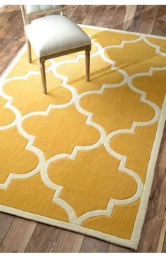 Rugs USA Keno Trellis Mustard Rug. Rugs USA Summer Sale up to 80% Off! Area rug, carpet, design, style, home decor, interior design, pattern, trend, statement, summer, cozy, sale, discount, free shipping, yellow.