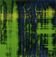 Gerhard Richter: Green-Blue  Grün-Blau  1993  240 cm x 240 cm  Oil on canvas  Catalogue Raisonné: 793-3